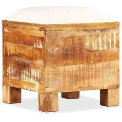 Vidaxl Skrzynia z siedziskiem, lite drewno odzyskane, 40 x 40 x 45 cm