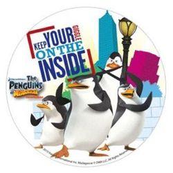 Dekoracyjny opłatek tortowy pingwiny z madagaskaru - 21 cm - 1 szt. marki Mode