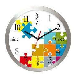 Atrix Zegar ścienny aluminiowy puzzle