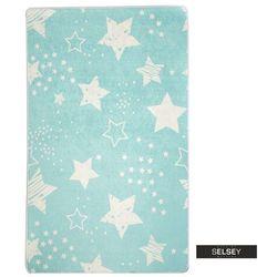 SELSEY Dywan do pokoju dziecięcego Dinkley Gwiazdy niebieski 140x190 cm (5903025555508)