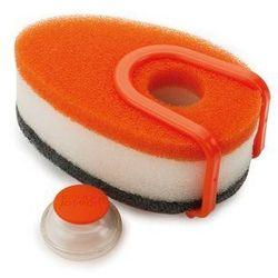 Jj- zestaw gąbek do mycia naczyń z dozownikiem, pomarańczowy - pomarańczowy, marki Joseph joseph