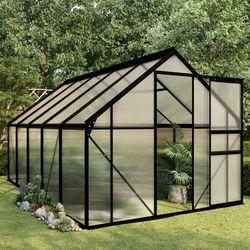 Vidaxl szklarnia, antracytowa, aluminium, 5,89 m² (8719883813967)