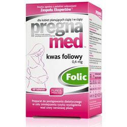 PREGNAMED Kwas foliowy tabl. 0,4mg 60tabl. (tabletki)
