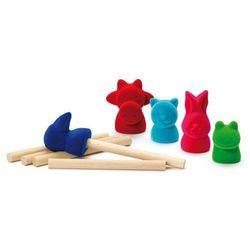 Gumowe pacynki na palce - zabawka zręcznościowa dla dzieci, produkt marki Erzi