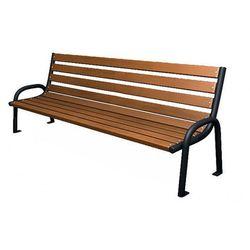 Stalowa ławka parkowa valkiria 2v - palisander marki Producent: elior