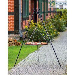 Grill na trójnogu z rusztem ze stali nierdzewnej 180 cm / 50 cm średnica marki Korono