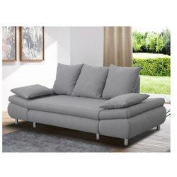Sofa FELTON – 3-osobowa, rozkładana – kolor jasnoszary