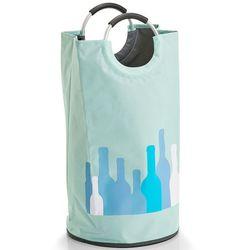 Zeller Kosz na pranie z uchwytami, worek na pranie, kosz na pranie tekstylny, pojemnik na pranie, kosz łazienkowy, materiałowy kosz, (4003368142753)