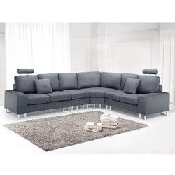Sofa tapicerowana - kanapa z 100% poliestru ciemnoszara - stockholm wyprodukowany przez Beliani