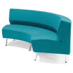 """""""Moduł sofy sofa skrętna """"""""do wewnątrz"""""""" turkusowy"""", kolor niebieski"""