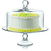 Patera szklana do ciasta o średnicy 327 mm, z pokrywą | LIBBEY, LB-55782