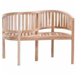 Producent: elior Drewniana ławka ogrodowa serpent - brązowa