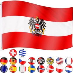 FLAGA AUSTRII AUSTRIACKA 120x80 CM NA MASZT AUSTRIA
