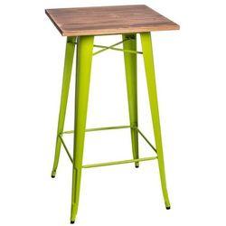 Stół barowy Paris Wood sosna - zielony jasny (5902385716253)
