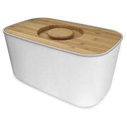 - biały chlebak z bambusową deską do krojenia wymiary: 35,7 x 17,7 x 21,4 cm marki Joseph joseph
