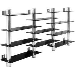 Półka wisząca z czarnego szkła i aluminium - czarny marki Stilista ®