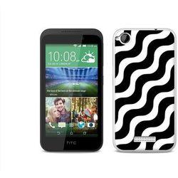 Fantastic Case - HTC Desire 320 - etui na telefon Fantastic Case - biało-czarna fala - produkt z kategorii- F