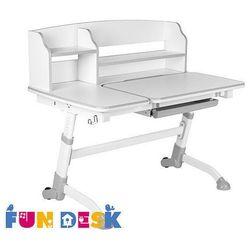 Amare II Grey - Ergonomiczne, regulowane biurko dziecięce z nadstawką FunDesk - ZŁAP RABAT: KOD70