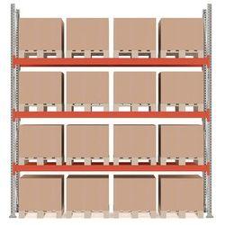 Regał paletowy ultimate, moduł podstawowy, 4000x3600x1100 mm, 16 palet, 500 kg/paleta marki Aj produkty