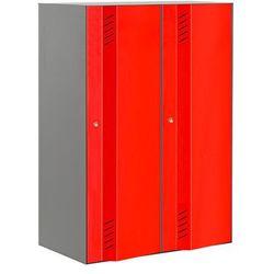 Podwójna sekcja szafy CREATE ENERGY 800x1200x500mm. Drzwi czerwone, towar z kategorii: Szafy i witryny