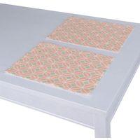 podkładka 2 sztuki, szare rąby na łososiowym tle, 30x40 cm, geometric marki Dekoria