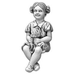 Figura ogrodowa betonowa dziewczynka siadająca 64cm