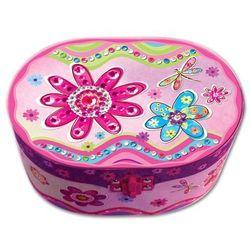Smiki, Pudełko na biżuterię z pozytywką, kwiaty - produkt dostępny w Smyk