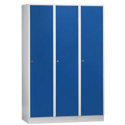 Szafa szatniowa z cokołem, wys. x szer. x gł. 1800x1200x500 mm, 3 półki, niebies