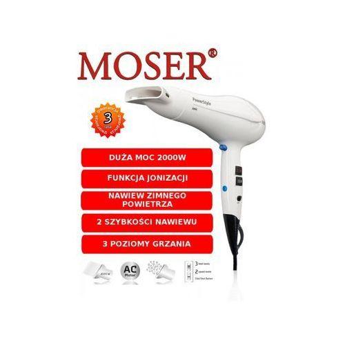 SUSZARKA MOSER POWER STYLE IONIC 2000W 4320-0051 (BIAŁA) - GWARANCJA PRODUCENTA 3 LATA, ODBIÓR OSOBISTY KRAK