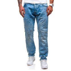 Niebieskie spodnie jeansowe męskie Denley 4436 (8419), kolor niebieski