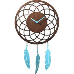 Zegar ścienny Dreamcatcher Nextime brązowy, kolor brązowy