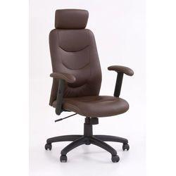 Fotel gabinetowy Stilo brązowy