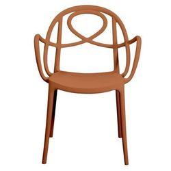 Green Krzesło ogrodowe etoile p pomarańczowe