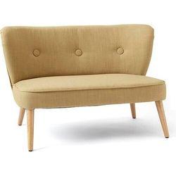 Kids concept Sofa dla dzieci żółta na drewnianych nogach (7340028730866)