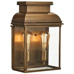 Elstead Ogrodowa lampa ścienna old bailey old bailey/l br zewnętrzna oprawa klatka vintage ip44 mosiądz przezroczysta