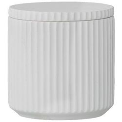 Bloomingville Porcelanowy pojemnik łazienkowy z pokrywką, biały -
