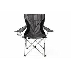 Krzesło turystyczne campingowe czarno-szare