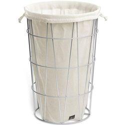 Kosz na bieliznę stalowy z lnianym workiem satone (40440) marki Zack