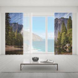 Zasłona okienna na wymiar komplet - WILD MOUNTAINS
