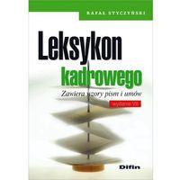 Leksykon kadrowego - mamy na stanie, wyślemy natychmiast, książka z kategorii Encyklopedie i słowniki