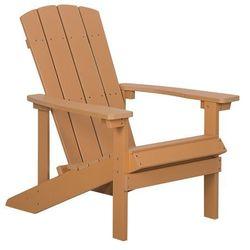 Beliani Krzesło ogrodowe jasne drewno adirondack (4251682202411)