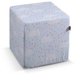Dekoria Pufa kostka twarda, białe chmurki na błękitnym tle, 40x40x40 cm, Apanona