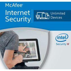 McAfee Internet Security 2017 Unlimited PC licencja na rok, towar z kategorii: Programy antywirusowe, zabezpie