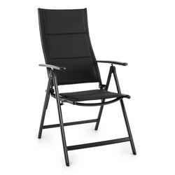 Blumfeldt  stylo royal black krzesło ogrodowe składane aluminiowe czarne, kategoria: krzesła ogrodowe