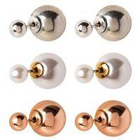 ALDO NASSI 3 PACK Kolczyki pearl/rose goldcoloured, 2312903