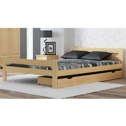 Łóżko drewniane manta 160x200 eko z materacem piankowym megana marki Meble magnat
