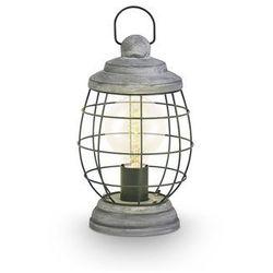 Eglo Stojąca lampka stołowa bampton 49289  druciana oprawa industrialna drut srebro antyczne