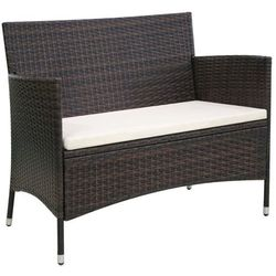 vidaXL Sofa ogrodowa z polirattanu 106x60x84, brązowa (8718475501862)