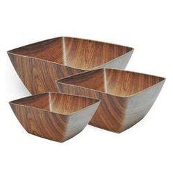 Miski bambusowe komplet 29/24/19,5 kwadrat