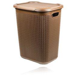 Kosz na bieliznę typu knit 50l - brązowy marki Imm cleaning
